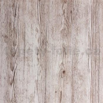 Samolepící tapeta strukturované dřevo šedé  - 67,5 cm x 2 m (cena za kus)