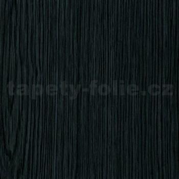 Samolepící tapety  - dřevo černé 90 cm x 15 m