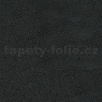 Samolepící tapety  - kůže černá 90 cm x 15 m