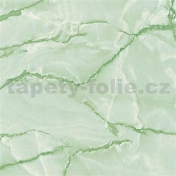 Samolepící tapety  - mramor Aquarell zelený 90 cm x 15 m - DOPRODEJ