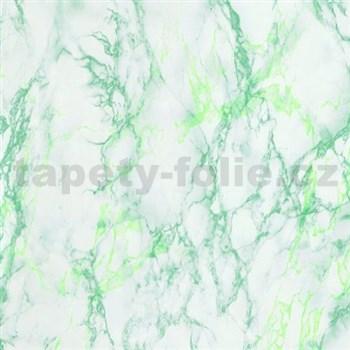 Samolepící tapety  - mramor světle zelený 90 cm x 15 m