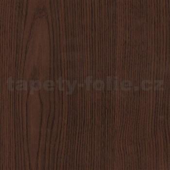 Samolepící tapety  - kaštan tmavě hnědý 67,5 cm x 15 m