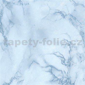 Samolepící tapety  - mramor Vario modrá 67,5 cm x 15 m