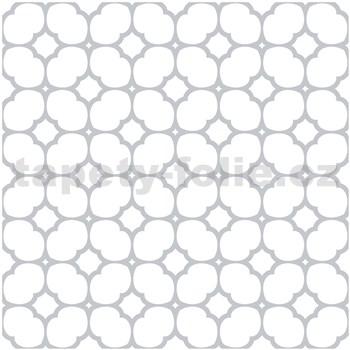Vinylové samolepící podlahové čtverce Classic mřížka šedá rozměr 30,5 cm x 30,5 cm