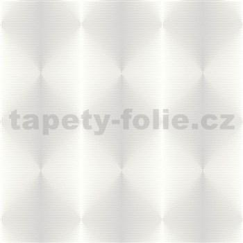 Vliesové tapety na zeď PRISME 3D abstrakt moderní bílo-krémový