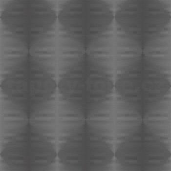 Vliesové tapety na zeď PRISME 3D abstrakt moderní stříbrno-černý