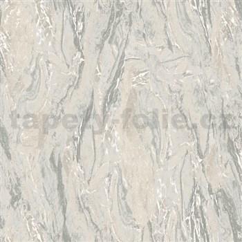 Vliesové tapety na zeď Nubia mramor šedo-hnědý