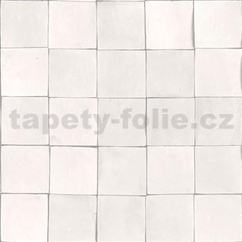 Vliesové tapety na zeď Nubia mozaika metalická bílo-šedá