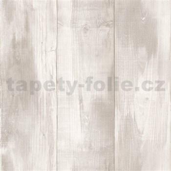 Vliesové tapety na zeď Nubia dřevo šedé