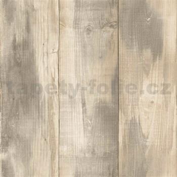 Vliesové tapety na zeď Nubia dřevo světle hnědé
