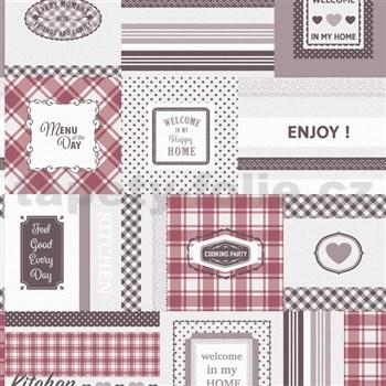 Vinylová kuchyňská tapeta IMPOL Decoration červená