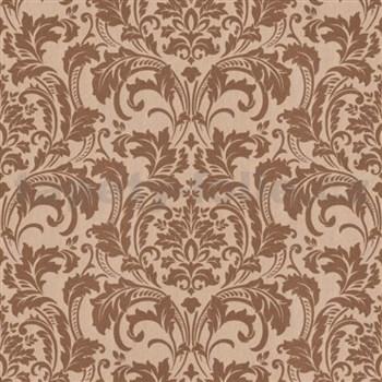 Luxusní vliesové tapety na zeď G.M.Kretschmer Deluxe zámecký vzor měděný