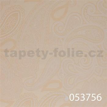 Vliesové tapety na zeď Astoria - kašmírový vzor světle béžový