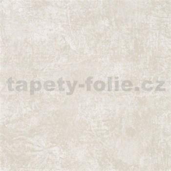 Vliesové tapety na zeď La Veneziana - krémovo-bílý s metalickým efektem