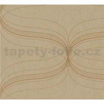 Vliesové tapety na zeď La Veneziana - zlatý ornament s metalickým efektem - POSLEDNÍ KUS