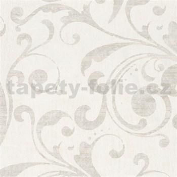 Vliesové tapety na zeď La Veneziana - barokní vzor krémovo-bílý