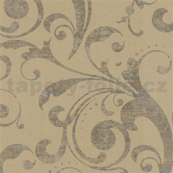 Vliesové tapety na zeď La Veneziana - barokní vzor okrový