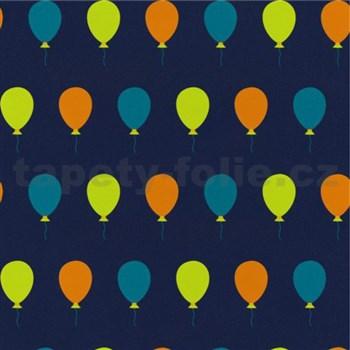 Dětské tapety na zeď Die Maus barevné balónky na modrém podkladu