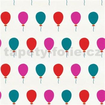 Tapety na zeď Die Maus barevné balónky na bílém podkladu - POSLEDNÍ KUSY