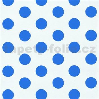 Tapety na zeď Die Maus puntíky modré na bílém podkladu