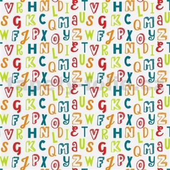 Dětské tapety na zeď Die Maus barevná písmena na bílém podkladu