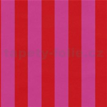 Tapety na zeď Die Maus pruhy červeno-růžové