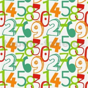 Tapety na zeď Die Maus barevné číslice na bílém podkladu