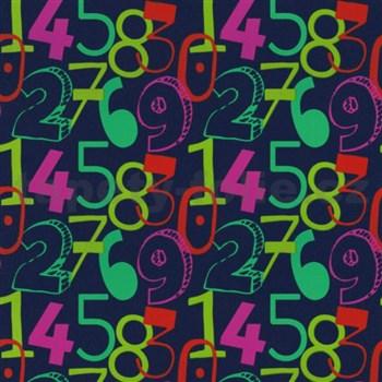 Tapety na zeď Die Maus barevné číslice na modrém podkladu