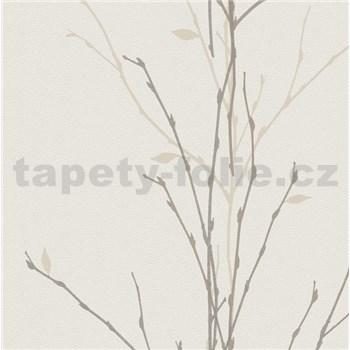 Vliesové tapety na zeď Gina větvičky hnědé