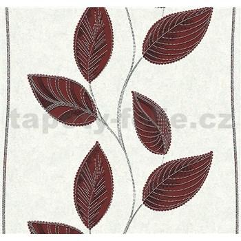 Vliesové tapety na zeď Easy Wall listy tmavě červené