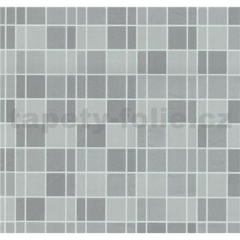 Vliesové tapety na zeď Easy Wall obklad kachličky šedé - POSLEDNÍ KUSY