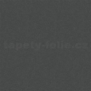 Vliesové tapety na zeď Ella textilní struktura černá se třpytkami