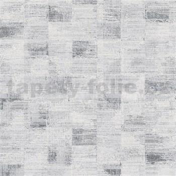 Vliesové tapety na zeď Ella strukturované kostky šedo-černé