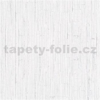 Vliesové tapety na zeď Ella strukturovaná omítka bílá