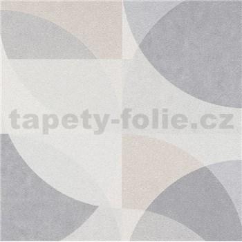 Vliesové tapety na zeď Elle Decoration geometrický vzor světle hnědo-šedý
