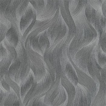 Vliesové tapety na zeď Elle Decoration vlnovky tmavě šedé