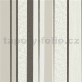 Vliesové tapety na zeď IMPOL Wall We Love pruhy strukturované černo-šedo-bílé