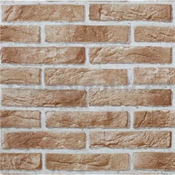 Papírové tapety na zeď Imitations cihla hnědá