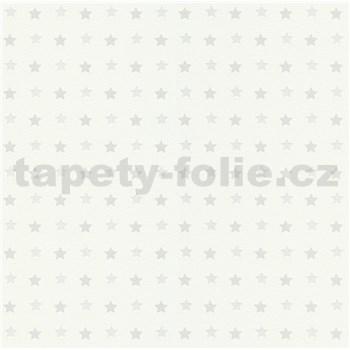 Vliesové tapety na zeď Freestyle hvězdičky šedé na bílém podkladu