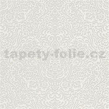 Vliesové tapety na zeď Modern Classics lesklý ornamentální vzor šedý
