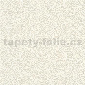 Vliesové tapety na zeď Modern Classics lesklý ornamentální vzor krémový