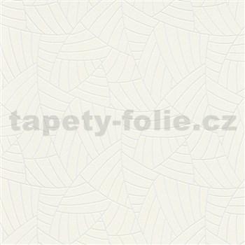 Vliesové tapety na zeď Graphics & Basics linky stříbrné na krémovém podkladu