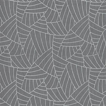 Vliesové tapety na zeď Graphics & Basics linky stříbrné na černém podkladu