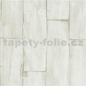Vliesové tapety na zeď IMPOL dřevěné hoblované desky světle hnědé