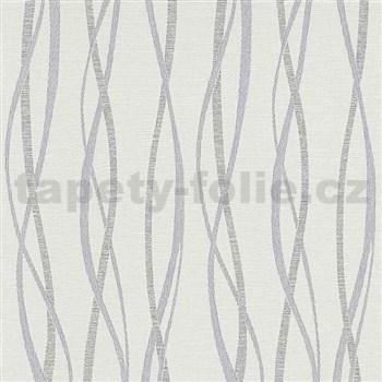 Vliesové tapety na zeď Graphic vlnovky modro-šedé