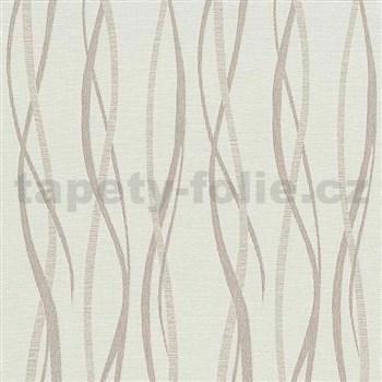 Vliesové tapety na zeď Graphic vlnovky růžovo-hnědé