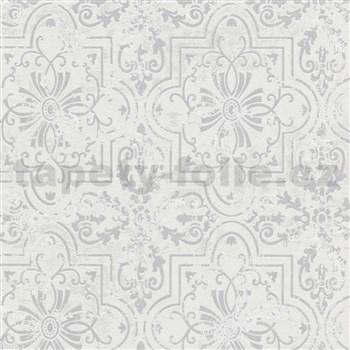 Vliesové tapety na zeď Modern Classics ornamenty šedé na strukturovaném podkladu