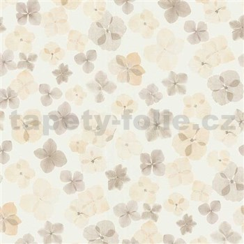 Vliesové tapety na zeď Prime Time II drobné květiny hnědé