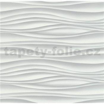Vliesové tapety na zeď Freestyle vlnovky vodorovné šedé