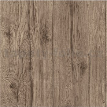 Vliesové tapety na zeď Quiet Nature dřevěné desky hnědé